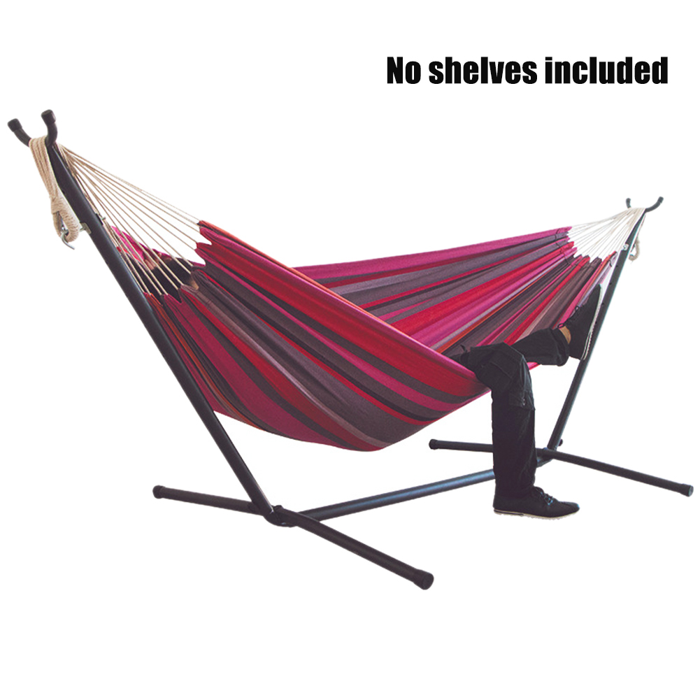 200x150cm Hanging Thicken Widened Without Stand For Bedroom Foldable Portable Canvas Hammock Outdoor Camping Sleeping Stripe