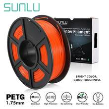 Sunlu 3D Printer Filament Petg Oranje 1.75Mm 1Kg/2.2LBS Met Spool Roll Materiaal Plastic Petg Gloeidraad Hot verkoop