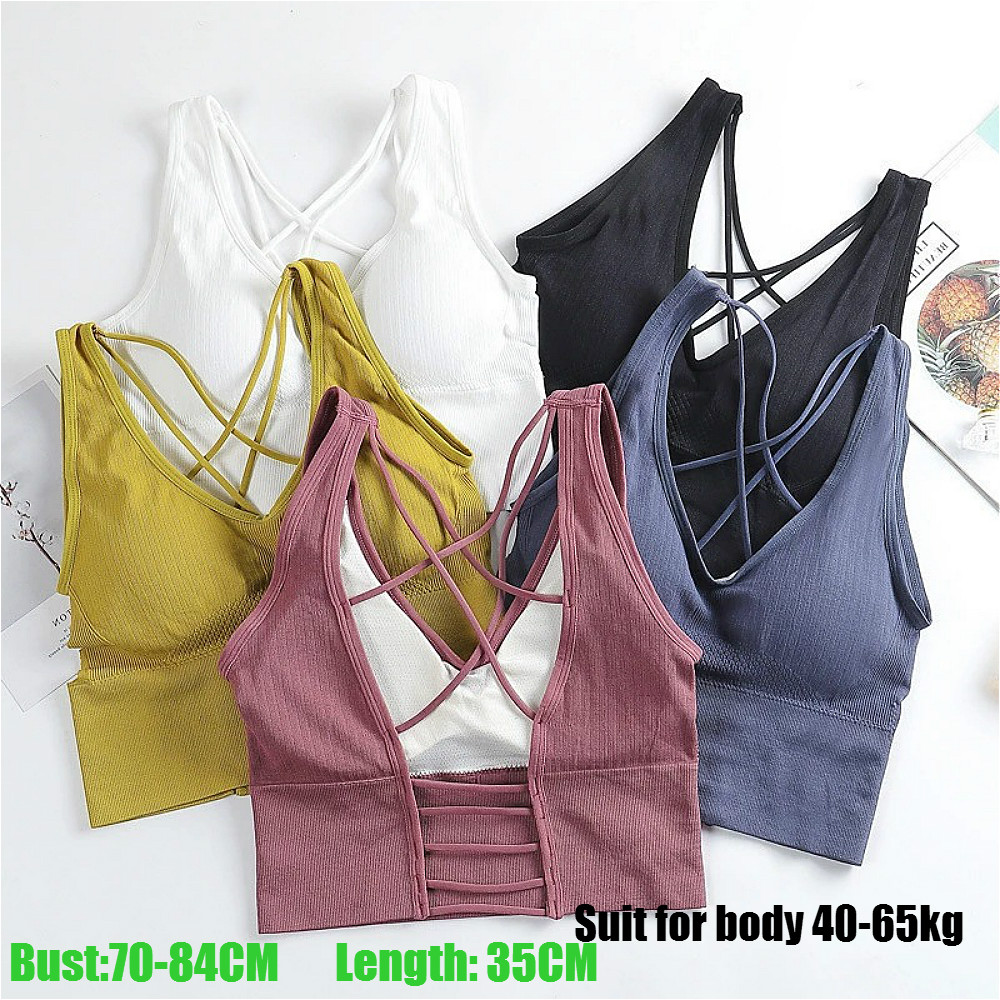 New Beauty Back Sports Bra Women Shockproof Sexy Breathable Athletic Fitness Running Gym Vest Tops Sportswear Crop Push up Top