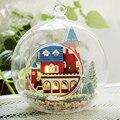 DIY Puppe Haus Miniatur Puppenhaus Glas Ball Mit Möbel Haus Für Puppen Casa Modell Ornament Spielzeug Für Kinder Geschenk B004 # E-in Puppenhäuser aus Spielzeug und Hobbys bei