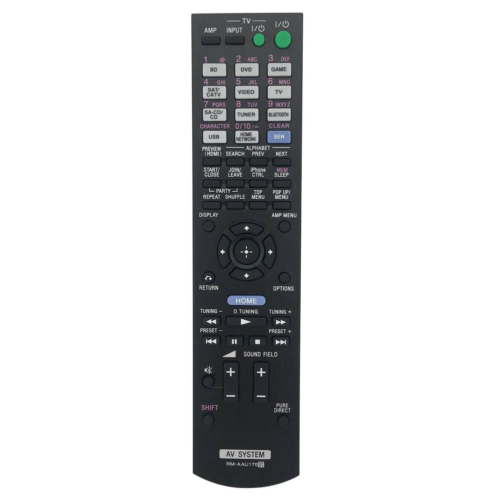 New RM-AAU170 Remote Control For SONY Audio Video Receiver Home Theater System RM-AAU168 RM-AAL008 RM-AAU154 STRDN840 STR-DH740