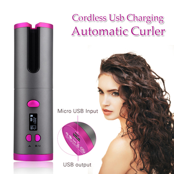 Automatic Hair Curler Auto Ceramic Wireless Curling Iron Hair Waver Tongs Beach Waves Iron Curling Wand Air Curler USB Cordless