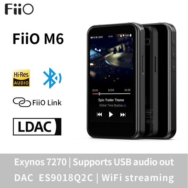 Fiio M6高解像度androidベースの音楽プレーヤーaptx hd、ldacハイファイbluetooth、usbオーディオ/dac、dsdサポートとwifi/エアプレイ