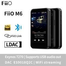 Lecteur de musique basé sur FiiO M6 hi res Android avec aptX HD, LDAC HiFi Bluetooth, USB Audio/DAC, Support DSD et WiFi/Air Play