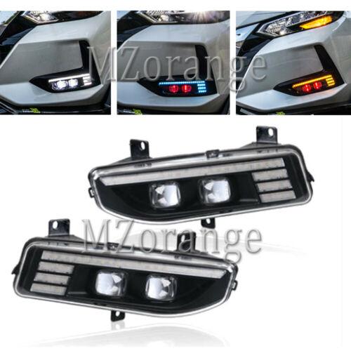 LED Fog Lights For Nissan X-trail T32 Rogue Kicks P15 Note E12 Leaf ZE1 Qashqai MK2 Versa MK2 Serena C27 2017-2020 Fog Light DRL