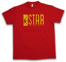 S.T.A.R. LABORATORIES LOGO TSHIRT TV Roter Sign Serie Blitz The Flash TShirt(China)