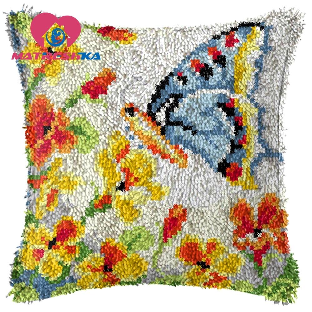 Наволочка для вышивания крестиком, подушка с защелкой, наборы для вышивания ковров, сделай сам Foamiran для рукоделия, домашнего декора, подарок
