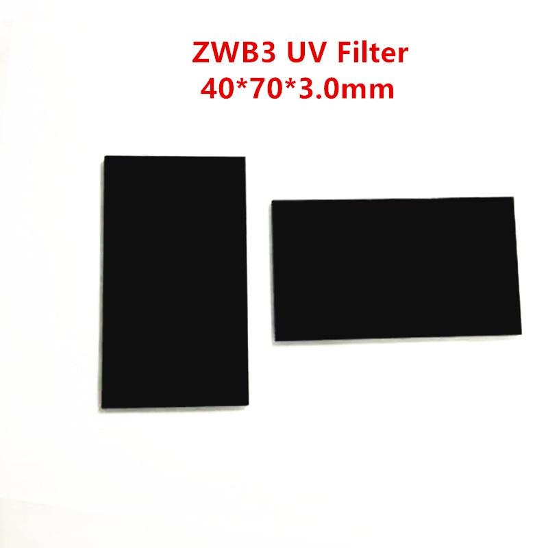 253.7 254nm ZWB3 40*70*3.0MM UG5 U-330 UV filtre passe-bande Ultraviolet verre