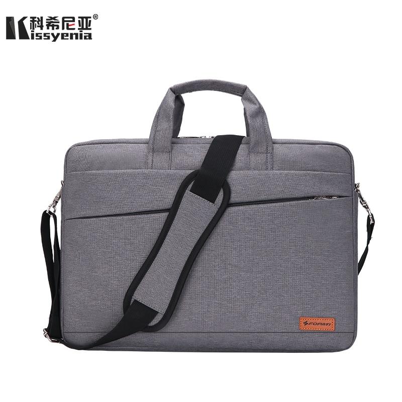 Kissyenia Waterproof Laptop Briefcase Men Women 13 14 15inch Computer Bag Business Laptop Case Flight Travel Shoulder Bag KS1251