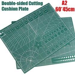 1 Uds A2 estera de corte auto-sanación Pvc rectangular rejilla herramienta líneas tela cuero artesanía Diy suministros de corte estera de corte estacionaria