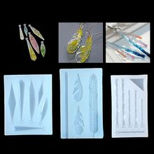 Fashion DIY Silicone Mold UV Resin Epoxy Molds Jewelry Crafts Molud for Making Accessories Irregular Feather Leaves Moulds