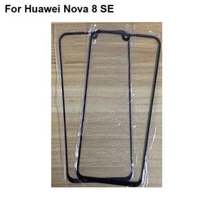 2 шт. для Huawei Nova 8 SE переднее внешнее стекло объектива Ремонт сенсорного экрана внешнее стекло без гибкого кабеля для Huawei Nova 8SE