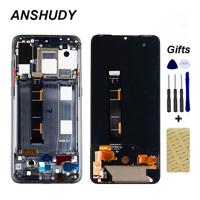 AMOLED For <font><b>Xiaomi</b></font> Mi 9 <font><b>Mi9</b></font> LCD <font><b>Display</b></font> Touch Screen Digitizer Assembly For <font><b>Xiaomi</b></font> Mi 9 LCD Replacement With frame+Tools image