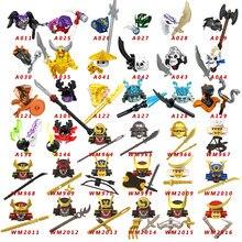 8 pçs/ninja gelo imperador golden snake legion bloco de construção figuras ação tijolos compatíveis conjunto para brinquedos presente