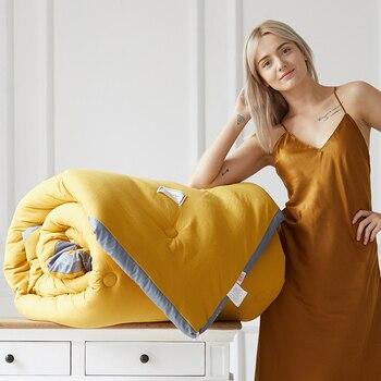100% edredón tejido de plumas nuevo estilo edredón cómodo y asequible edredón de invierno Multicolor elija manta caliente suave de lujo