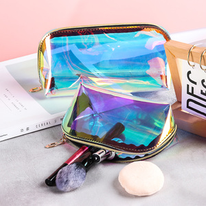 Fashion Laser Cosmetic Bag for Women Makeup Case TPU Transparent Beauty Organizer Pouch Female Jelly Bags Lady Make Up Pack
