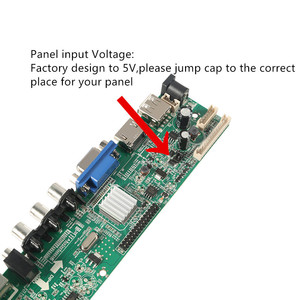 Image 4 - 3663 Digital Signal DVB C DVB T2 DVB T Universal LCD TV Controller Driver Board UPGRADE 3463A Russian UPGRADE 3463A with lvds