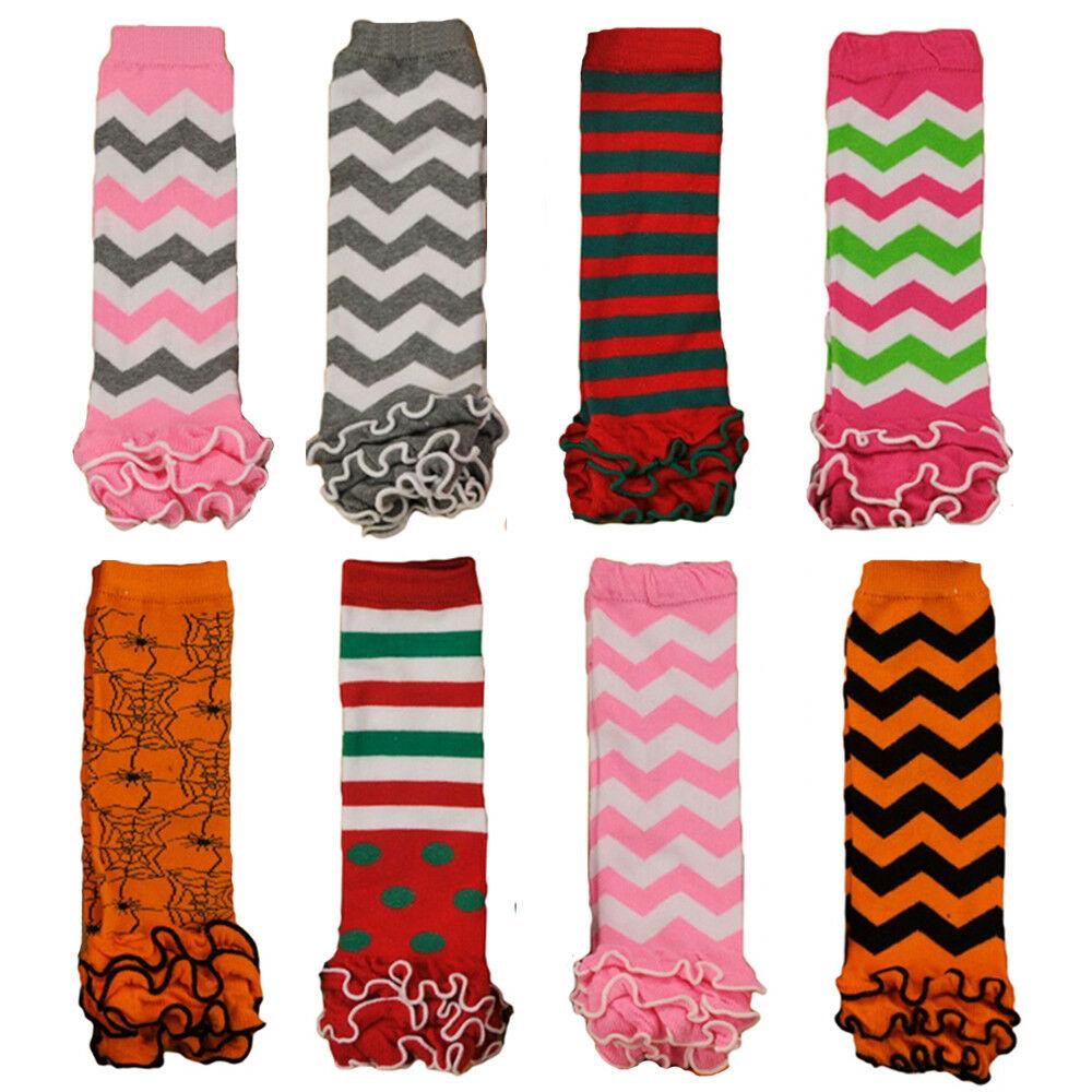 Fashion Baby Toddler Girl Kid Wavy Stripe Flower Socks Tights Arm Leg Warmers WATXW0016