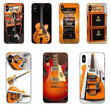 Orange Guitar Electric Amp Amplifier For Samsung Galaxy Note 4 8 9 G313 S3 S4 S5 S6 S7 S8 S9 S10 Edge Plus Lite I9080(China)