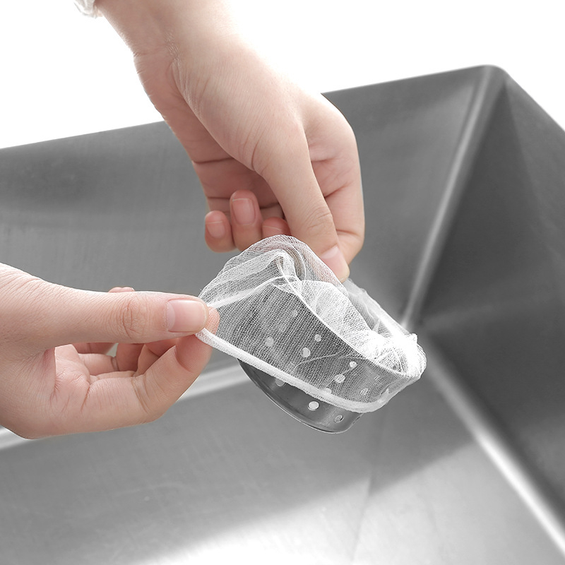 100Ps Set Sink Drainer Filter Creative One Time Kitchen Vegetable Garbage Bags Multifunction Anti Blocking Mesh Sink Filter Net in Colanders Strainers from Home Garden