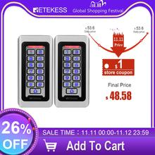 2Pcs Retekess T AC03 Toetsenbord Rfid Toegangscontrole Systeem Proximity Card Standalone 2000 Gebruikers Deur Toegangscontrole Waterdichte Case