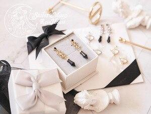 Image 4 - Sailor Mond Saturn Schwarz Dame 925 Silber Shiny Ohrring Ohr Stud Clip Handmade Cosplay Zubehör Schmuck Requisiten Geschenk für Mädchen
