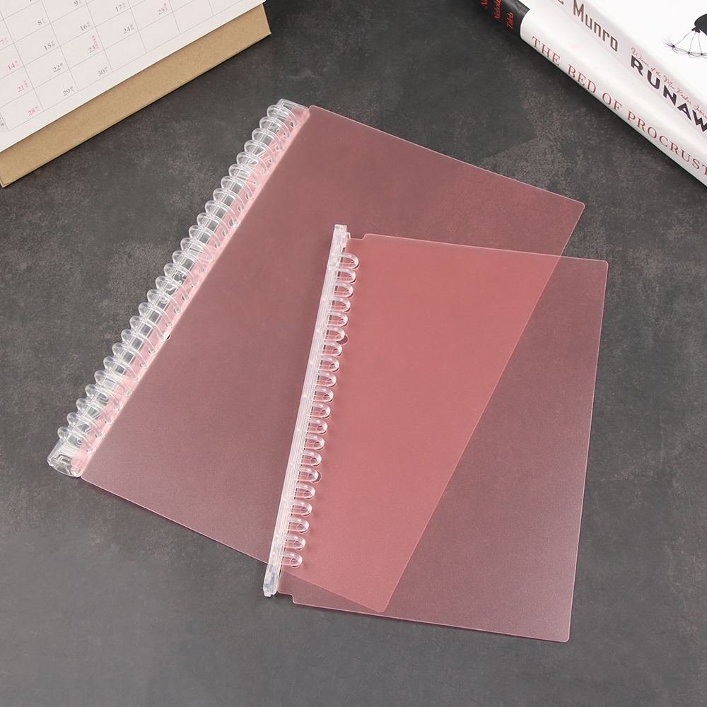 A5/B5 20/26 Hole Binder Circle Blue/pink PP Loose-leaf Cover Index Divider Separator Notebook Accessory Stationery Useful