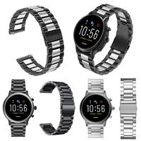 General 22mm Metal Stainless Steel Strap Watch Band For Fossil Gen 5 Samsung Gear S3 Galaxy Watch 46mm Quick Release Watch Bands|Smart Accessories| |  -