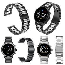 General 22mm Metal Stainless Steel Strap Watch Band For Fossil Gen 5 Samsung Gear S3 Galaxy Watch 46mm Quick Release Watch Bands(China)