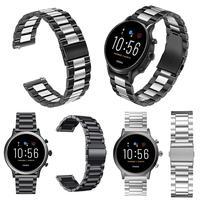 Ogólne 22mm metalowy zegarek ze stalowym paskiem ze stali nierdzewnej dla Fossil Gen 5 Samsung Gear S3 Galaxy Watch 46mm szybkie uwolnienie opaski do zegarka w Inteligentne akcesoria od Elektronika użytkowa na