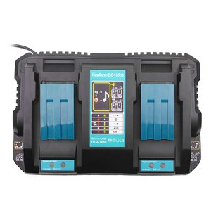 Dual Port Charger Lithion Battery Charger for Makita DC18RD 14.4-18V BL1815 BL1830 BL1840 BL1415 BL1430 BL1440(China)