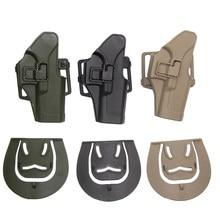 Tático coldre de arma para glock 17 18 19 22 23 26 31 airsoft pistola coldre cinto militar caso arma caça acessórios