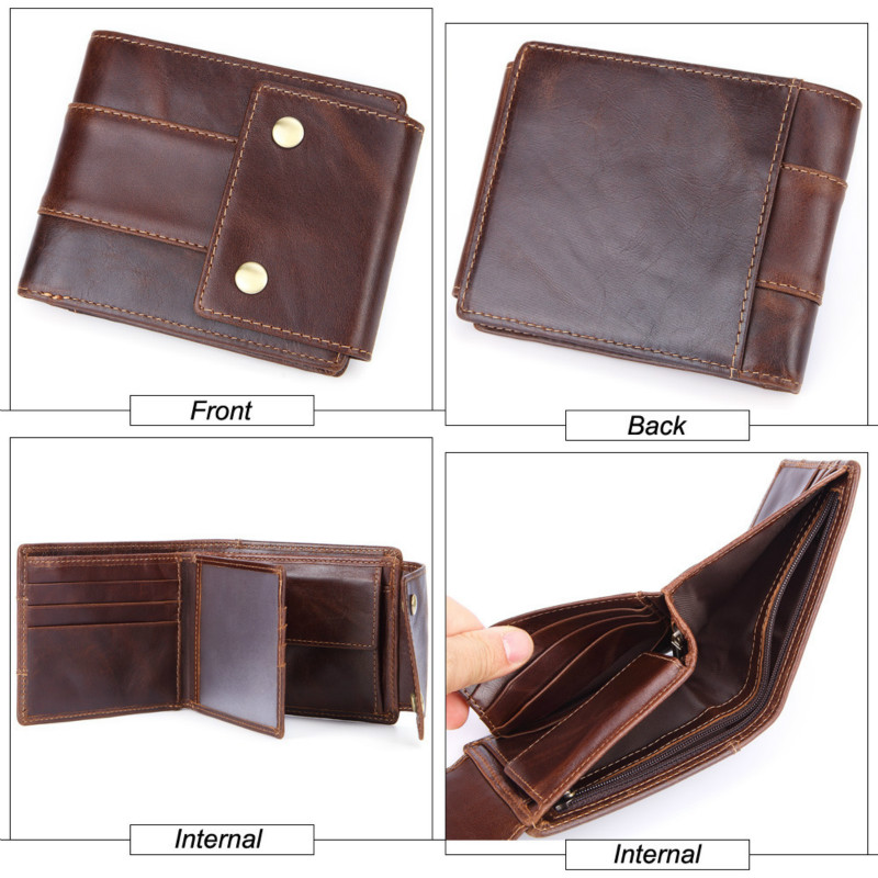 MISFITS Luxury Brand Men Wallets Genuine Leather Purse Mens Money Bag Card Holder Wallet Man Leather Coin Pocket Wallet Male