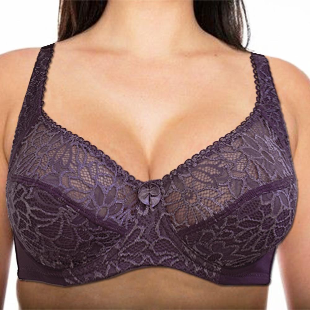 Bras For Women Lace Bra Large Plus Size Ladies Sexy Underwear Bralette Lingerie Tops 34-44  B C D DD E F Cup 1