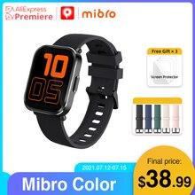 Mibro צבע Smartwatch 5ATM Waterproof קצב לב Tracker 270mAh סוללה חכם שעון לנשים גברים iOS אנדרואיד sportsmartwatch