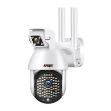 1080p lente dupla ip câmera de vigilância ao ar livre câmera de segurança em casa sem fio cctv ip66 à prova dwifi água wifi led luz cam