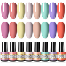 ROSALIND Gel Polish Set 7ML 4/6PCS Nail Polish Kit All For Manicure UV Soak Off Shiny Gel Hybrid Varnishes Base And Top Nail Art