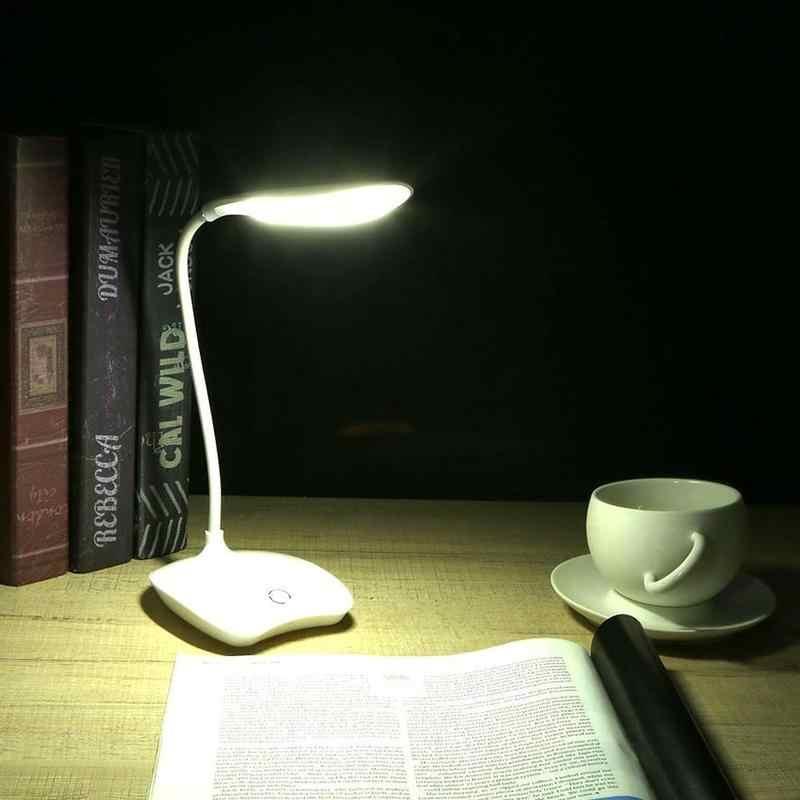 Сенсорный экран 3 режима настольная лампа Usb Светодиодная настольная лампа прикроватная Настольная лампа с зажимом чтение в постели книга ночник Светодиодная настольная лампа