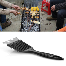 Stainless Steel Barbecue Cleaning Brush Plastic Handle Outdoor Barbecue Tool high quality 10pcs wooden handle stainless steel barbecue needles