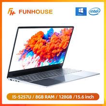 Intel core I5-5257U 15.6 Polegada 8g ram 128g/256g ssd metal portátil computador portátil escritório de negócios computador novo jogos netbook estudantes