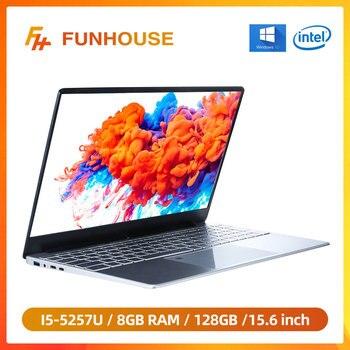 Ordenador portátil Intel Core I5-5257U de Metal, ordenador portátil de 15,6 pulgadas, 8G RAM, 128G/256G SSD, para negocios, oficina, juegos, Netbook, estudiantes