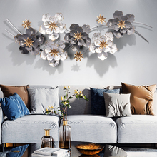 Железная художественная стена, украшение для гостиной, фон для стен, декоративный металлический подвесной светильник, экстравагантные настенные украшения с цветами