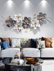 Arte do ferro decoração de parede uma sala de estar fundo da parede decorar metal luz pingente extravagante as flores decorações de parede