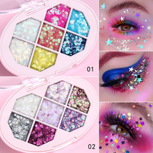 Professional 7 Colors Glitter Eye Shadow Pallete Pigment Eyes