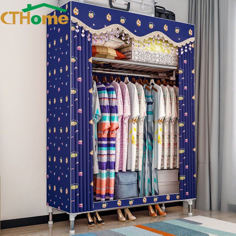 CTHome Modern Wardrobe Baby Storage Cabinet Folding Steel Individual font b Closet b font Bedroom Furniture