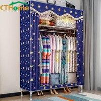 CTHome Modern Wardrobe Baby Storage Cabinet Folding Steel Individual Closet Bedroom Furniture Moisture Proo Storage Cabinets