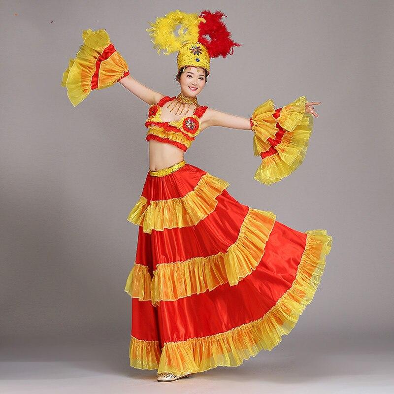 Открытый танец большие качели юбка костюмы женский современный танец представление костюм женский представление Одежда для взрослых