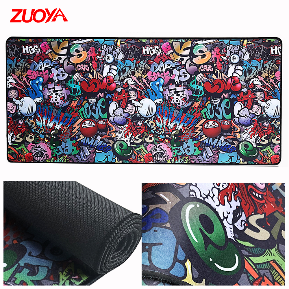ZUOYA Large Mouse Pad Gaming Mousepad Gamer  Mause Carpet Mat Keyboard Pad PC Desk CS Natural Rubber