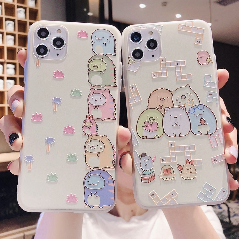 Cartoon Couple Emboss Case For Huawei P40 P20 P30 Honor 10 Lite 20 Pro 8X 10I 9S Play 9A P Smart 2020 Y9 Prime 2019 Y6p Y5p Caso
