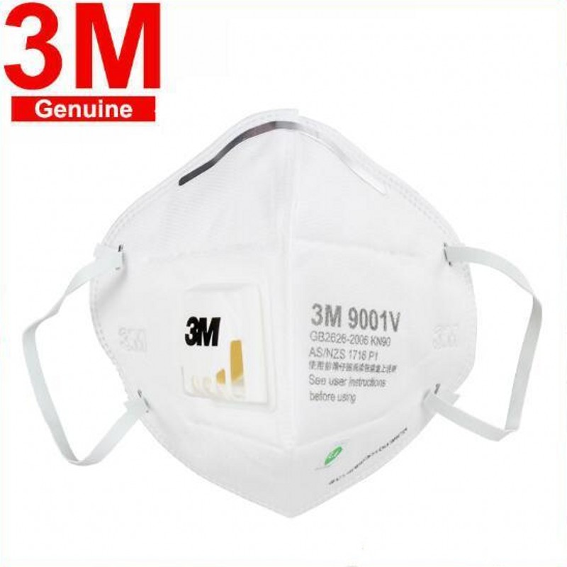 Ship Now 10 Pcs FFP3 9001V Anti Pollution Masks Unisex Outdoor Protection Dust 3M Mask N95 PM2.5 Anti Mouth Mask